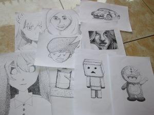 Hasil gambar pointilis siswa SMK