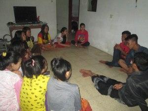 Sugeng dan Shakir berbagi cerita di Sangkanparan